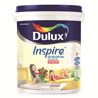 Sơn Nội Thất Dulux Inspire Sắc Màu Bền Đẹp Bề Mặt Bóng 18L