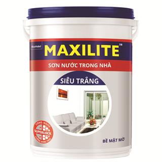 Sơn Nước Trong Nhà Maxilite Siêu Trắng 18L